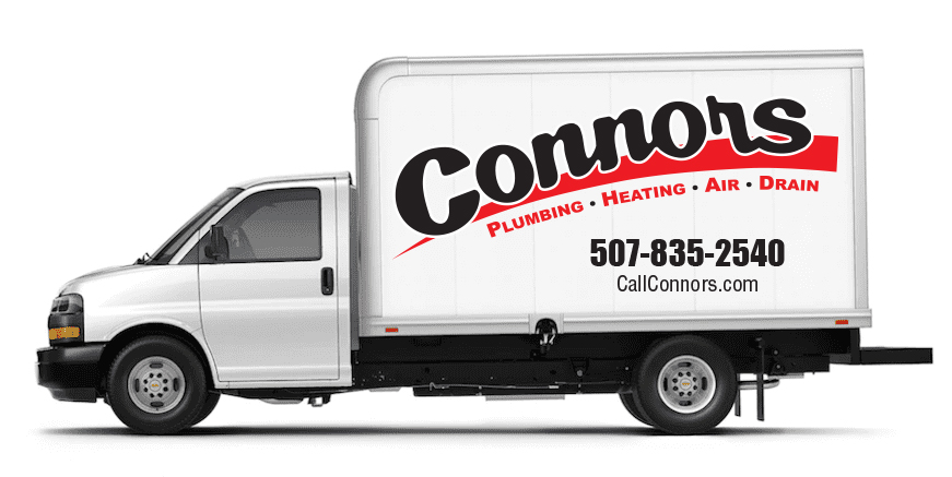 Connors Plumbing Heating Air Drain Truck