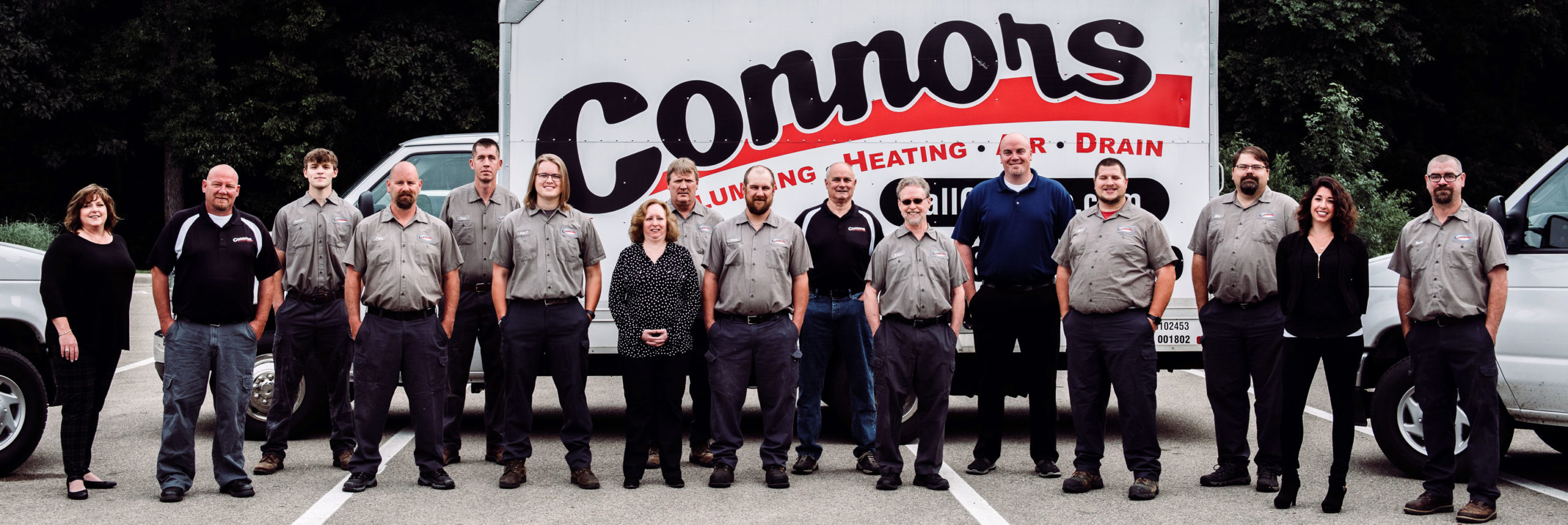 Connors Plumbing Heating Air & Drains Team